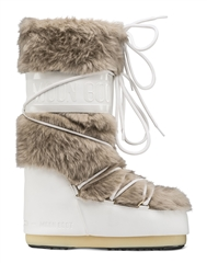 MOON BOOT CLASSIC FAUX FUR WHITE