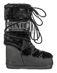 MOON BOOT CLASSIC FAUX FUR BLACK